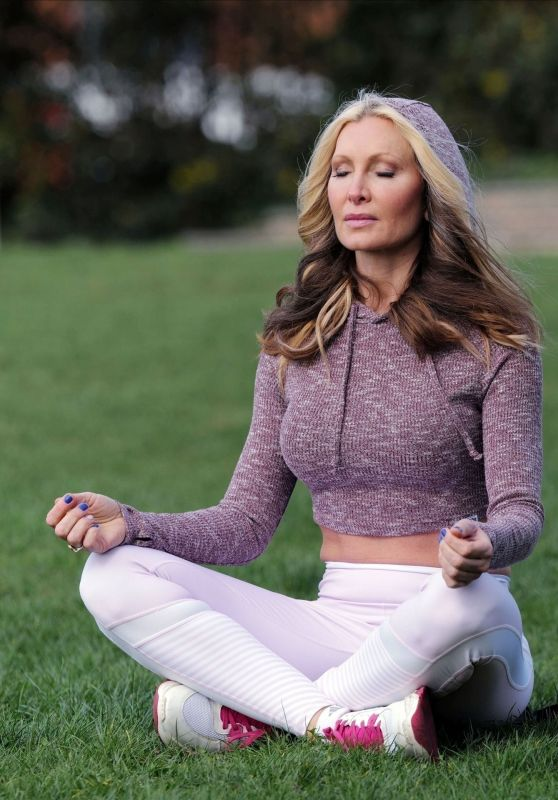 Caprice Bourret - Practicing Yoga in a Park in London 03/17/2020