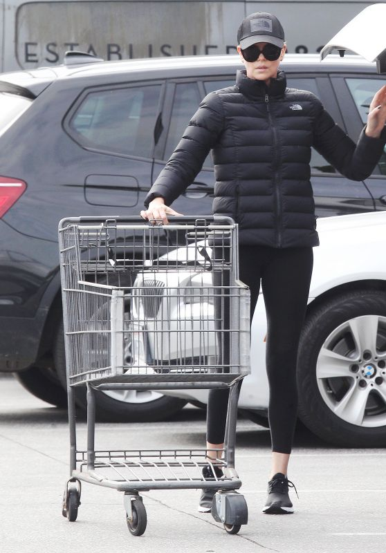 Charlize Theron - Shopping in Beverly Hills 03/20/2020