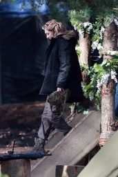 "Eleanor Tomlinson - Filming Scenes for ""Intergalactic"" in Cheshire 03/15/2020"