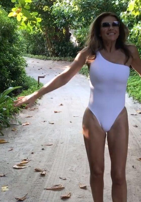 Elizabeth Hurley in a Swimsuit - Social Media 03/31/2020