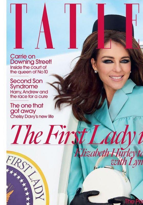 Elizabeth Hurley - Tatler Magazine UK April 2020 Cover