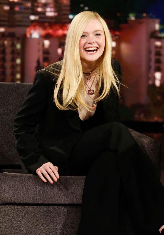 Elle Fanning - Jimmy Kimmel Live in Los Angeles 03/04/2020