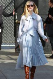 Elle Fanning - Outside Jimmy Kimmel Live in Los Angeles 03/04/2020