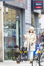 Emilia Clarke - Takes Her Dog For a Stroll in London 03/20/2020