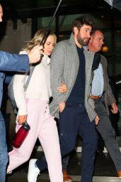 Emily Blunt and John Krasinski - Leaving the Crosby Hotel in NY 03/06/2020