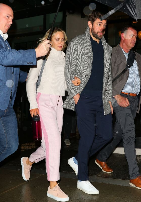 Emily Blunt and John Krasinski - Leaving the Crosby Hotel in NY 03/06/2020