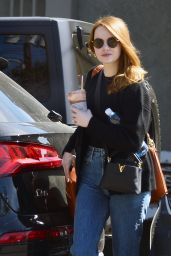 Emma Stone Street Style - Out in Los Angeles 03/09/2020