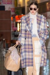 Gigi Hadid in Travel Outfit - JFK Airport in NYC 03/03/2020