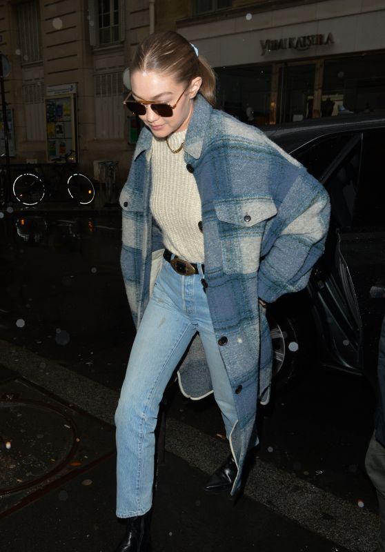 Gigi Hadid - Out in Paris 03/01/2020