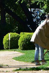 Jordana Brewster - Gardening in Santa Monica 03/24/2020