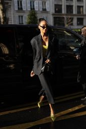 Jourdan Dunn is Looking All Stylish - Leaving the Royal Monceau Hotel in Paris 02/29/2020