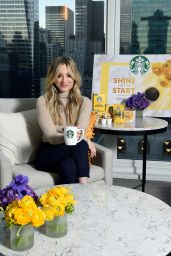 "Kaley Cuoco - Starbucks ""Shine from the Start"" Spring Campaign in NYC"