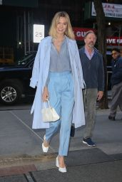 Karlie Kloss in a Pastel Blue Ensemble - NYC 03/06/2020