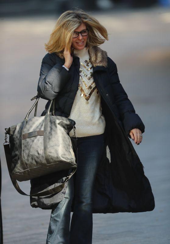 Kate Garraway - Arriving at Smooth Radio Studio in London 03/26/2020