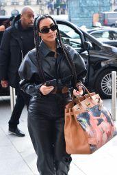Kim Kardashian All-Leather Look - Paris 03/03/2020