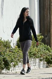 Krysten Ritter in Leggings - Out For a Walk in LA 03/28/2020