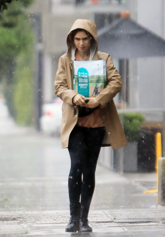 Lily Collins - Out in the Rain in LA 03/13/2020
