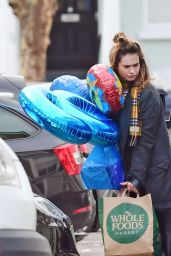 Lily James at Whole Foods in London 03/23/2020