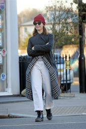 Lily James - Out in London 03/29/2020
