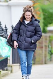 Lily James - Out in North London 03/14/2020