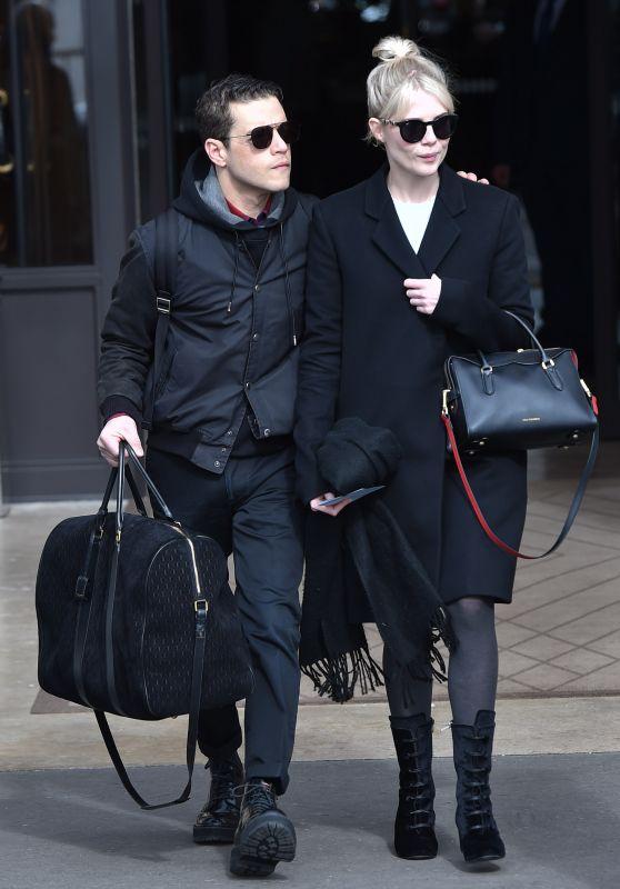 Lucy Boynton and Rami Malek - Paris 02/29/2020