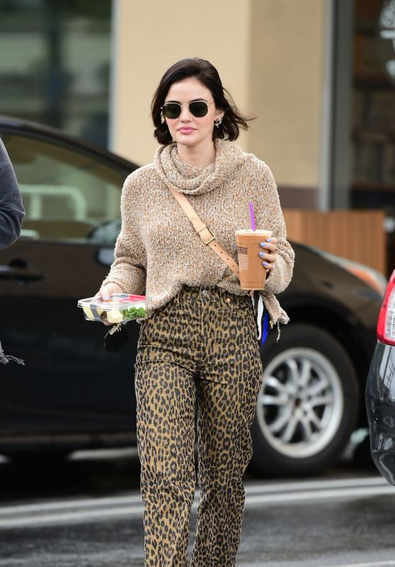 Lucy Hale - Getting an Iced Coffee in LA 03/17/2020