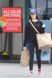 Lucy Hale - Shops for Groceries in Studio City 03/25/2020