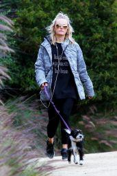 Malin Akerman - Hiking With Her Dog in LA 03/16/2020