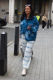 Maya Jama Street Style - Leaving BBC Radio One Studios in London 03/13/2020