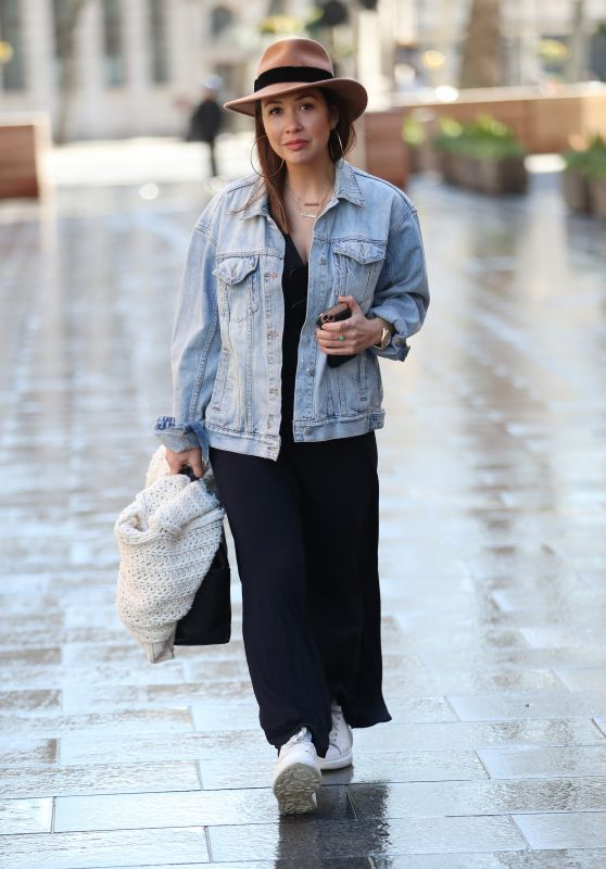 Myleene Klass - Arrive at Global Radio in London 03/24/2020
