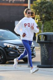 Nina Dobrev - Jog in Los Angeles 03/26/2020