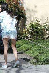Nina Dobrev - Takes Her Dog For a Walk in LA 03/25/2020
