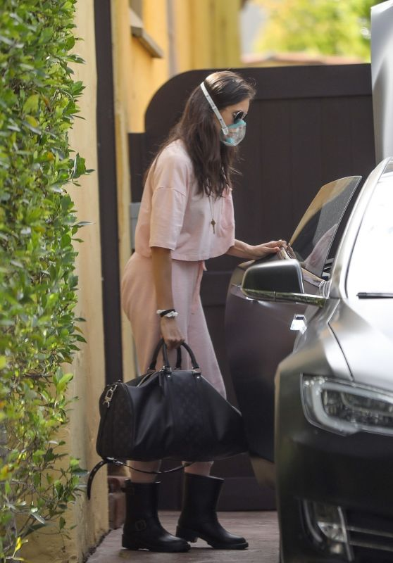 Nina Dobrev Wearing a Surgical Mask - Los Angeles 03/23/2020