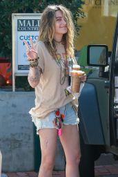 Paris Jackson Leggy in Denim Shorts - Starbucks in Malibu 03/04/2020