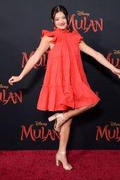 "Peyton Elizabeth Lee – ""Mulan"" Premiere in Hollywood"