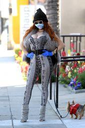 Phoebe Price Wear Her Own Custom Mask - Beverly Hills 03/26/2020