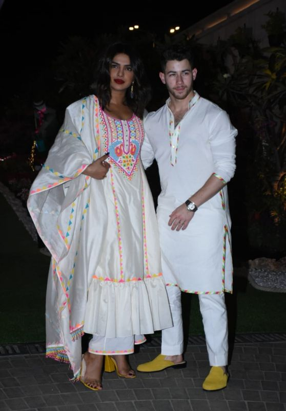 Priyanka Chopra and Nick Jonas - Isha Ambani's Holi Party in Mumbai 03/06/2020