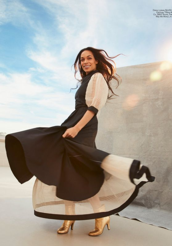 Rosario Dawson - ELLE Magazine USA April 2020 Issue
