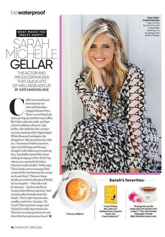 Sarah Michelle Gellar - Shape Magazine US April 2020 Issue