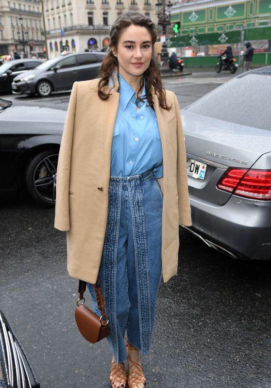 Shailene Woodley - Arrives at Stella McCartney Show at Paris Fashion Week 03/02/2020