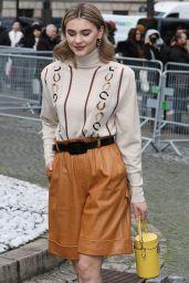 Stefanie Giesinger – Arriving at the Miu Miu Fashion Show in Paris 03/03/2020