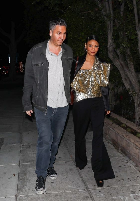 Thandie Newton and her husband Ol Parker - Out in Beverly Hills 03/06/2020