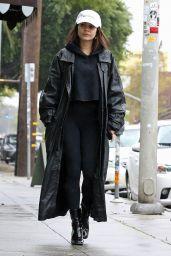 Vanessa Hudgens in a Massive Coat - Los Angeles 03/13/2020