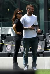 Victoria Beckham and David Beckham in Miami 03/14/2020
