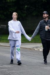 Abby Champion and Patrick Schwarzenegger - Out in Brentwood 04/07/2020