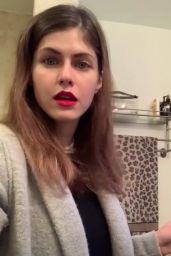 Alexandra Daddario - Social Media 04/09/2020