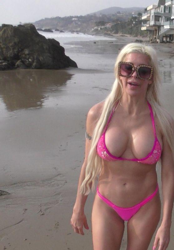 Angelique Morgan in a Bikini - Millionaire Beach in Malibu 04/09/2020