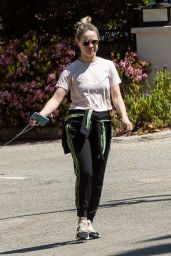 Becca Tobin Walk With Husband Zach Martin in Los Angeles 04/11/2020