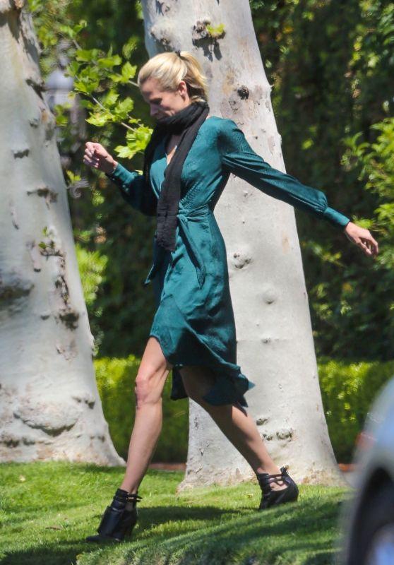 Brooke Burns - Outside Her House in Toluca Lake 04/15/2020