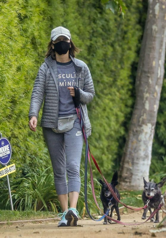 Calista Flockhart - Walks Her Dogs in LA 04/17/2020